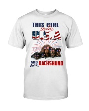 Dachshunds And USA Classic T-Shirt front