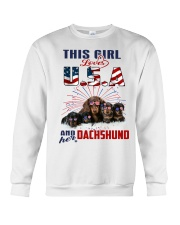 Dachshunds And USA Crewneck Sweatshirt thumbnail