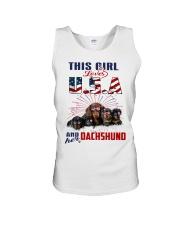 Dachshunds And USA Unisex Tank thumbnail
