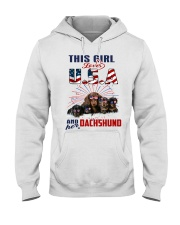 Dachshunds And USA Hooded Sweatshirt thumbnail