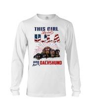 Dachshunds And USA Long Sleeve Tee thumbnail