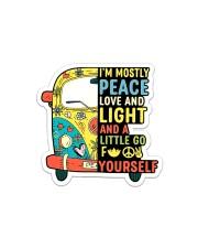 I'm Mostly Peace Sticker - Single (Horizontal) front