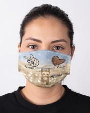 Sloth Peace Love Cloth face mask aos-face-mask-lifestyle-01