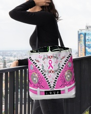 Breast Cancer Awareness All-over Tote aos-all-over-tote-lifestyle-front-05