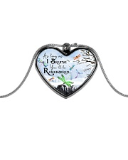 As Long As I Breathe Metallic Heart Necklace front