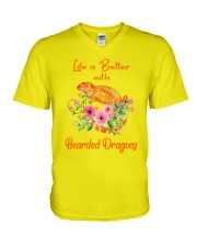 Life Is Better With Bearded Dragons V-Neck T-Shirt thumbnail