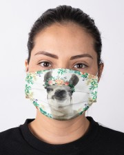 Llama Floral Cloth face mask aos-face-mask-lifestyle-01