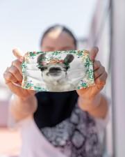 Llama Floral Cloth face mask aos-face-mask-lifestyle-07