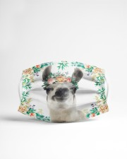Llama Floral Cloth face mask aos-face-mask-lifestyle-22