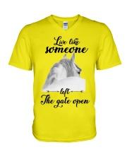 Live Like Someone V-Neck T-Shirt thumbnail