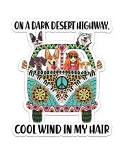 Dog On A Dark Desert High Sticker - Single (Vertical) front