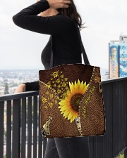 Bee Sunflower Tote Bag All-over Tote aos-all-over-tote-lifestyle-front-05