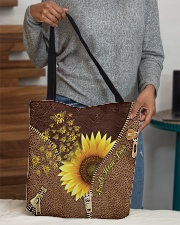 Bee Sunflower Tote Bag All-over Tote aos-all-over-tote-lifestyle-front-10