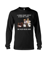 She Also Needs Dogs Long Sleeve Tee thumbnail
