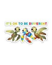 Autism It's Ok To Be Different Sticker - Single (Horizontal) front