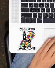 Autism Mom You Never Walk Alone Sticker - Single (Vertical) aos-sticker-single-vertical-lifestyle-front-11