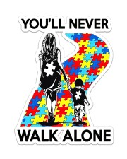 Autism Mom You Never Walk Alone Sticker - Single (Vertical) front