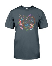 Flower And Dragonflies Classic T-Shirt tile