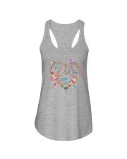 Flower And Dragonflies Ladies Flowy Tank thumbnail