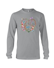 Flower And Dragonflies Long Sleeve Tee thumbnail