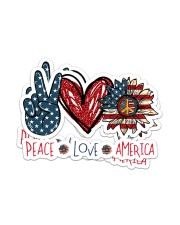 Peace Love America Sticker - 2 pack (Horizontal) front