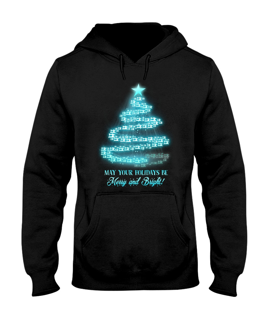 Merry And Bright Hooded Sweatshirt