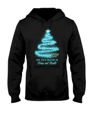 Merry And Bright Hooded Sweatshirt front