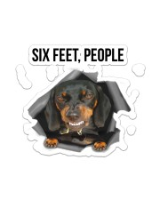 Dachshund Six Feet People Sticker - Single (Vertical) front