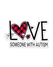 Love Someone With Autism NTV Sticker - Single (Horizontal) front