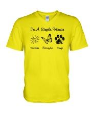 I'm A Simple Woman V-Neck T-Shirt thumbnail