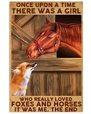 A Girl Loved Horses And Foxes 11x17 Poster front