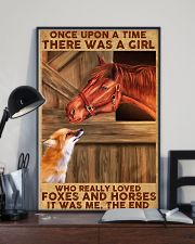 A Girl Loved Horses And Foxes 11x17 Poster lifestyle-poster-2