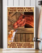 A Girl Loved Horses And Foxes 11x17 Poster lifestyle-poster-4