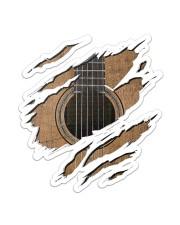 Guitar  Sticker - Single (Vertical) front
