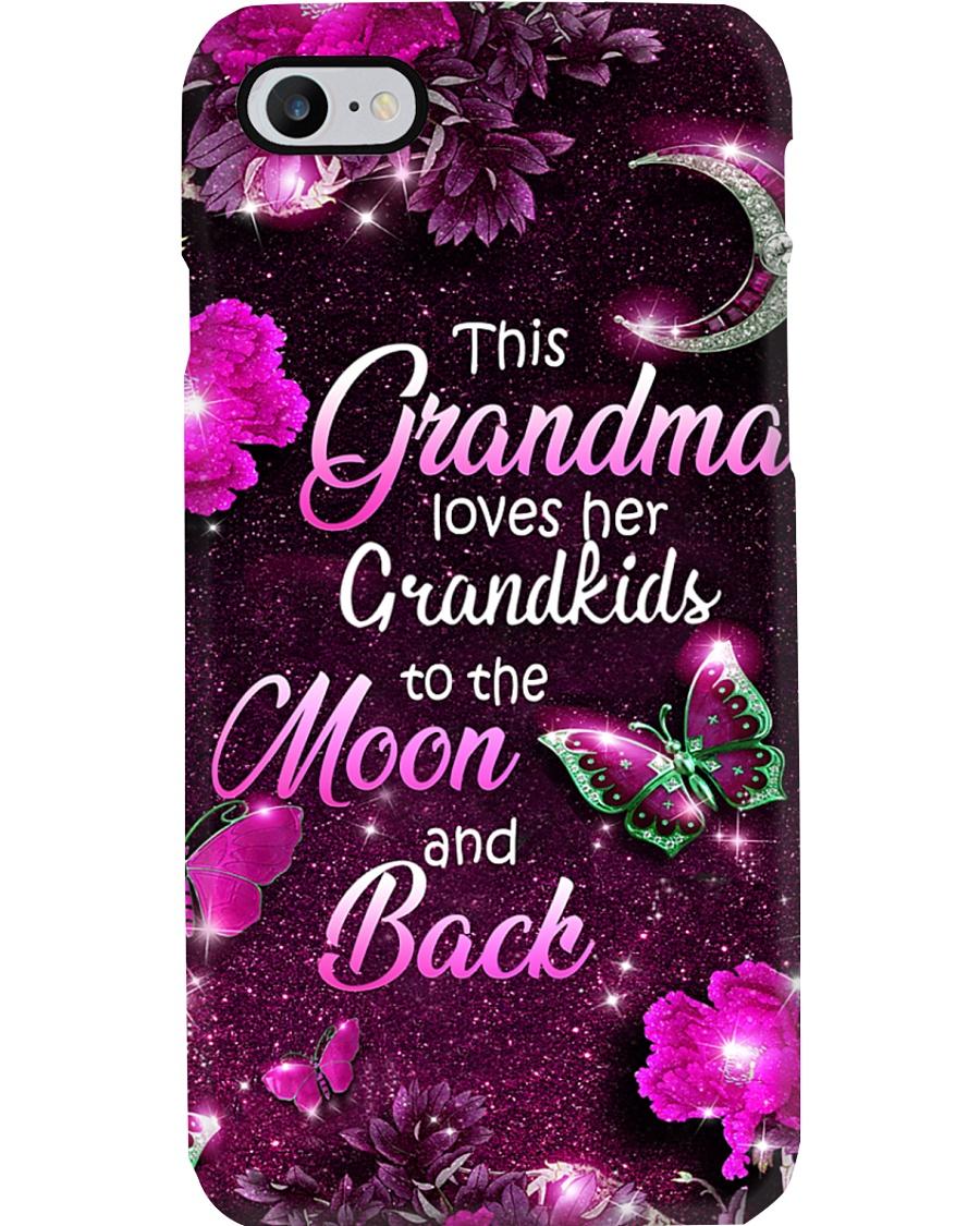 Grandma Loves Grandkids - Purple PC Phone Case