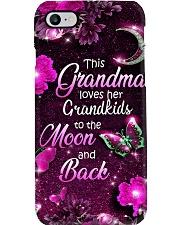 Grandma Loves Grandkids - Purple PC Phone Case i-phone-8-case