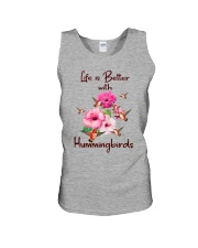 Life Is Better With Hummingbirds Unisex Tank thumbnail