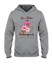 Life Is Better With Hummingbirds Hooded Sweatshirt thumbnail