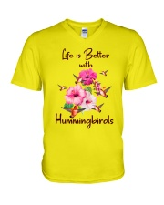 Life Is Better With Hummingbirds V-Neck T-Shirt thumbnail