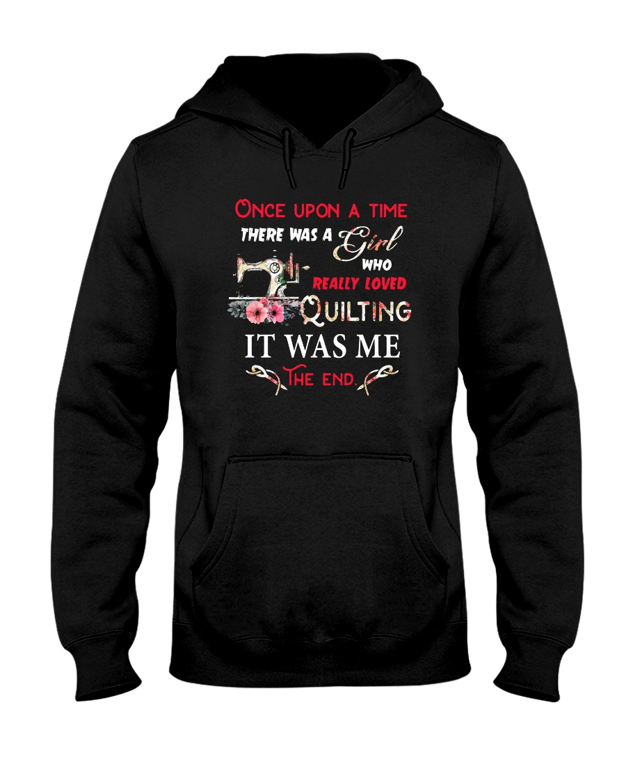 There Was A Girl Who Loved Quilting Hooded Sweatshirt