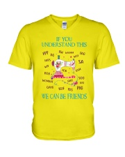 We Can Be Friends V-Neck T-Shirt thumbnail
