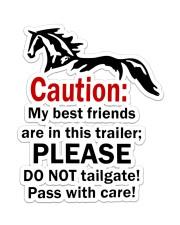 Horse Caution  Sticker - Single (Vertical) front