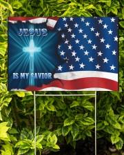 Jesus Is My Savior 18x12 Yard Sign aos-yard-sign-18x12-lifestyle-front-02