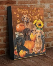 Dachshund Happy Fall Y'all 11x14 Gallery Wrapped Canvas Prints aos-canvas-pgw-11x14-lifestyle-front-09