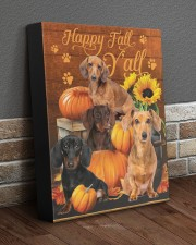Dachshund Happy Fall Y'all 11x14 Gallery Wrapped Canvas Prints aos-canvas-pgw-11x14-lifestyle-front-10