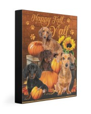 Dachshund Happy Fall Y'all 11x14 Gallery Wrapped Canvas Prints front