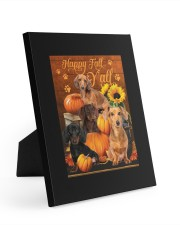 Dachshund Happy Fall Y'all Easel-Back Gallery Wrapped Canvas tile