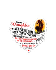To My Daughter Sticker - Single (Horizontal) front