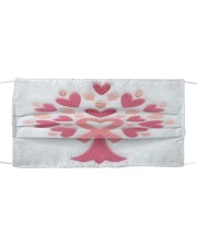 Breast Cancer Embroidery Cloth face mask front