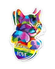 LGBT Cat Love NTV Sticker - 2 pack (Vertical) front